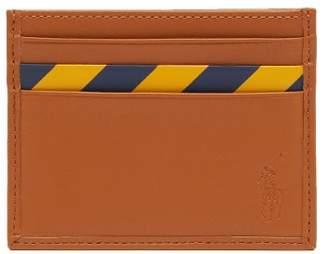 Polo Ralph Lauren Striped Leather Cardholder - Mens - Tan