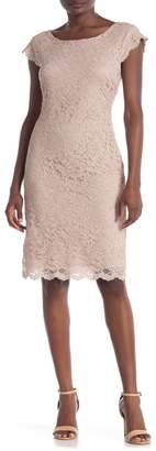 Onyx Nite Cap Sleeve Lace Dress
