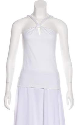 Gucci Sleeveless Knot-Accented Top