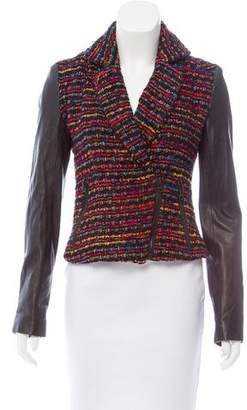 Torn By Ronny Kobo Textured Leather-Paneled Jacket
