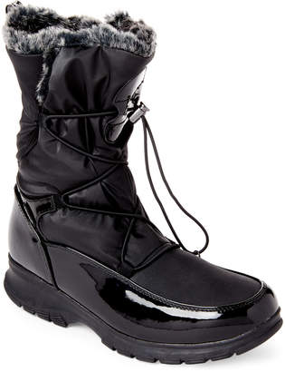 Khombu Black Amber Lined Snow Boots