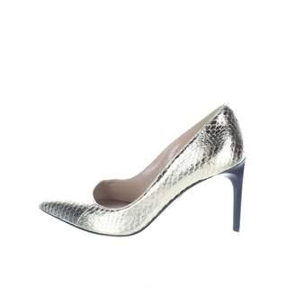 Diane von Furstenberg Gold Leather Heels