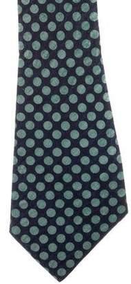 Givenchy Polka Dot Print Silk Tie
