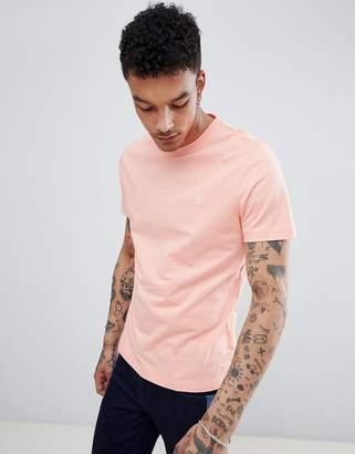 Original Penguin Small Logo Crewneck Slim Fit T-Shirt in Pink