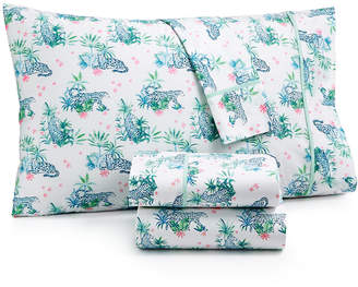Martha Stewart Collection Closeout! Whim by Collection Novelty Print California King 4-pc Sheet Set, 200 Thread Count 100% Cotton Percale, Created for Macy's Bedding