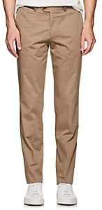 Hiltl Men's Cotton Twill Slim Trousers-Beige, Tan Size 32