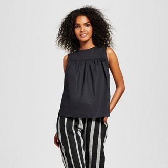 Who What Wear Women's Knit to Woven Tank - Who What Wear $19.99 thestylecure.com
