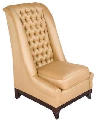 Portico Silk-Upholstered Slipper Chair