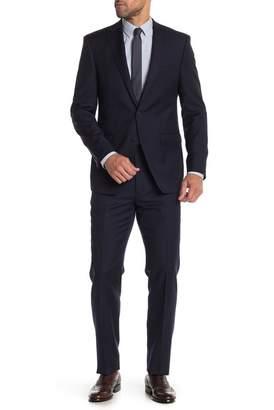Calvin Klein Navy Pinstripe Slim Fit Two Button Notch Lapel Wool Suit
