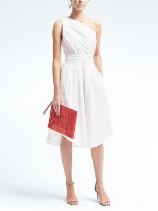One-Shoulder Poplin Dress $118 thestylecure.com