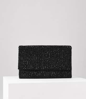 Reiss Minty Crystal-Embellished Evening Bag