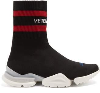 Vetements X Reebok high-top sock trainers