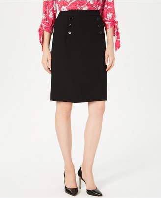 Nine West Sailor-Button Skirt