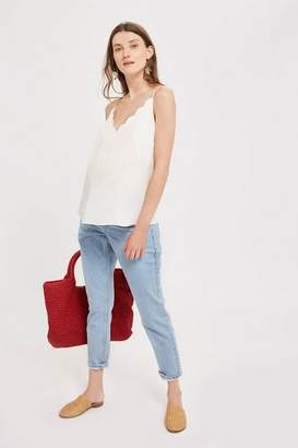 Topshop **Maternity Bleach Under The Bump Mom Jeans
