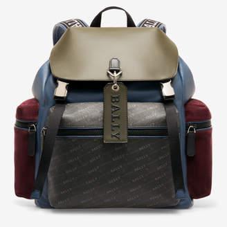 Bally Crew Blue, Men's bovine leather backpack in cobalt