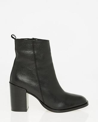 Le Château Pebble Leather Square Toe Ankle Boot