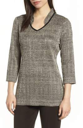 Ming Wang Textured Knit Tunic