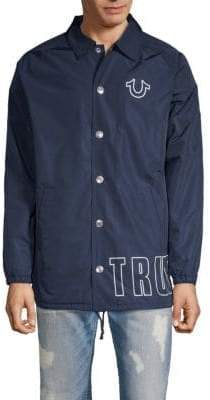 True Religion Wrap Logo Coach Jacket