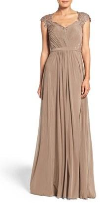 La Femme Mixed Media Gown $518 thestylecure.com
