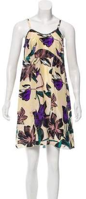 Marni Silk Floral Print Dress