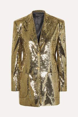 Dundas Sequined Crepe Blazer - Gold