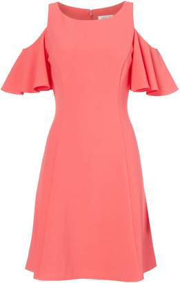 Eliza J Fit and flare cold shoulder dress
