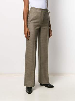 Incotex houndstooth wide leg trousers