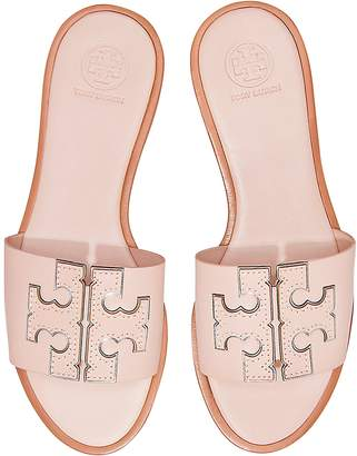 Tory Burch Sea Shell Calf Leather Ines Slides