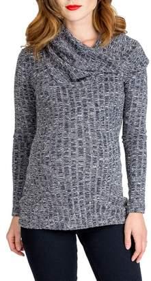 Ophelia Nom Maternity Cowl Neck Maternity Sweater