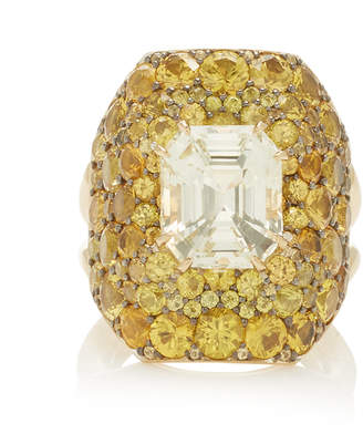 VRAM One-Of-A-Kind Pale And Intense Yellow Sapphire Ring