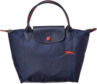 Longchamp Le Pliage Small Nylon & Leather Top Handle Tote
