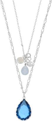 Lauren Conrad Double Strand Simulated Crystal Teardrop Pendant Necklace