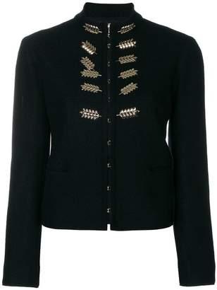 Nina Ricci leaf embellished jacket