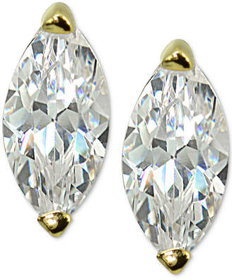 Giani Bernini Cubic Zirconia Marquise Stud Earrings in Sterling Silver, Created for Macy's