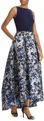 Lauren Ralph Lauren Floral Jacquard Ball Gown