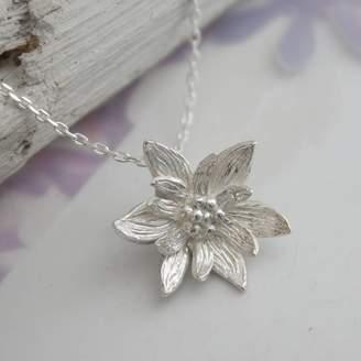 Lotus flower jewelry shopstyle uk at notonthehighstreet caroline brook sterling silver lotus flower necklace mightylinksfo
