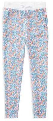 Ralph Lauren Childrenswer Girls' Terry Floral Pants - Big Kid