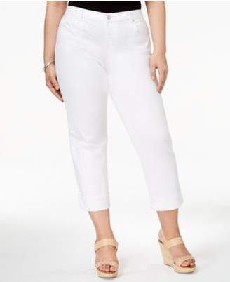Style&Co. Style & Co Plus Size Cuffed Crop Jeans, Created for Macy's