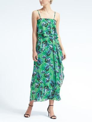 Floral Tiered Flounce Maxi Dress $158 thestylecure.com