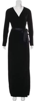 Diane von Furstenberg Julian Long New Velvet Dress w/ Tags
