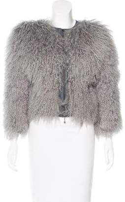 McQ by Alexander McQueen Mongolian fur Jacket $645 thestylecure.com