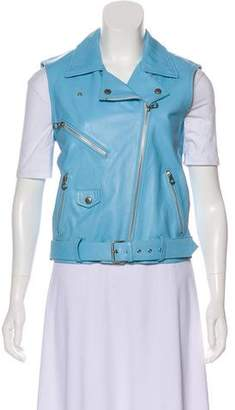Opening Ceremony Leather Moto Vest w/ Tags