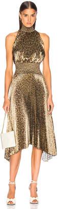 A.L.C. (エーエルシー) - A.L.C. Spotted Leopard Foil Renzo Dress in Metallic Gold | FWRD