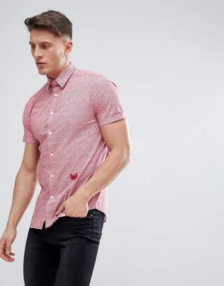 Diesel S-VENETY Short Sleeve Shirt in Red