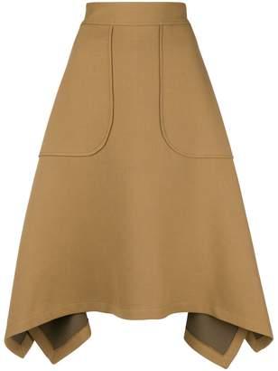 See by Chloe A-line handkerchief hem skirt