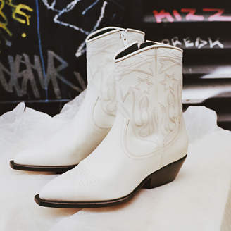Sandro Leather cowboy boots