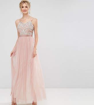 Maya Tall Embellished Cami Strap Bow Back Embellished Maxi Dress