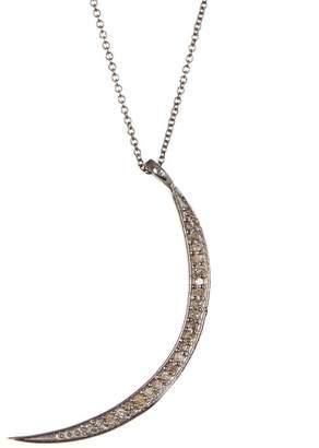 ADORNIA Sterling Silver Champagne Diamond Luna II Necklace - 0.15 ctw