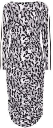 Norma Kamali Leopard-printed jersey dress