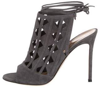 Gianvito Rossi Suede Cut-Out Sandals